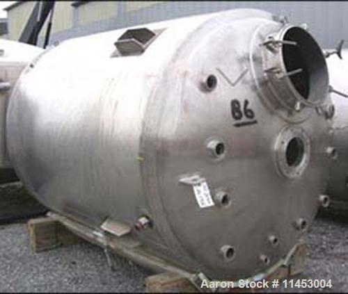 """Unused-ONE (1) Used 1500 gallon (6000 liter) Northland Stainless Reactor, 316L stainless steel construction, 70"""" diameter x ..."""