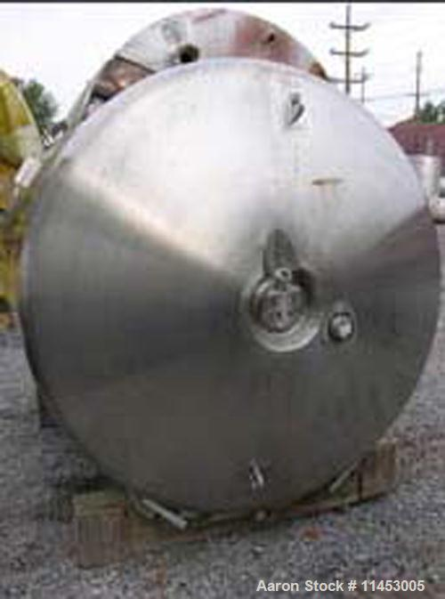 "Unused-ONE (1) Used 1400 gallon (5300 liter) Northland Stainless Reactor, stainless steel construction, 64"" diameter x 92"" s..."