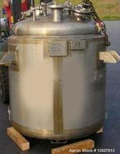 """Used-Northland Stainless Inc reactor, approximately 240 gallon. T316 stainless steel inner shell (7 ga), inner top head 1/4""""..."""