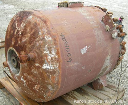 """Used- Pfaudler Reactor, 100 gallon, 316L stainless steel, vertical. 30"""" x 36"""" straight side, clamped dished top, dished bott..."""