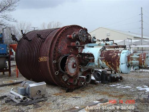 USED: Pmp Co reactor 3300 gallon. T304 clad. 8' dia x 8' high, dished heads. Design 55#/fv at 350 F internal. CS 3 section h...
