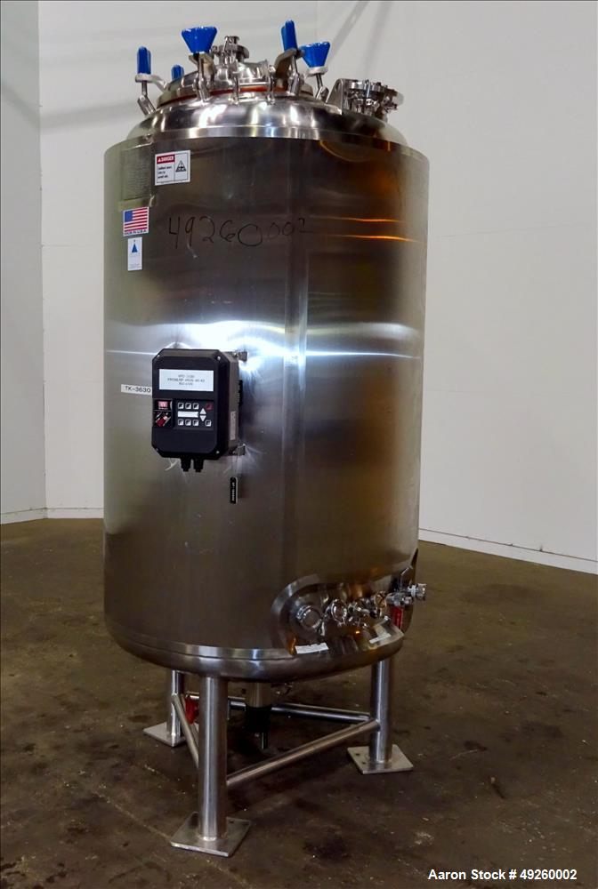 Used- Precision Stainless Reactor, 1000 Liter (264.17 Gallon), 316L Stainless St