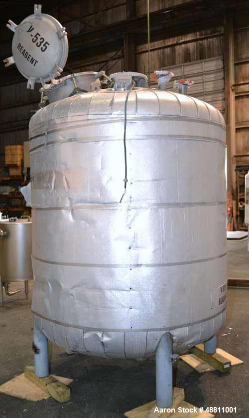 Used- Precision Stainless Reactor, 710 Gallon, 304L Stainless Steel, Vertical