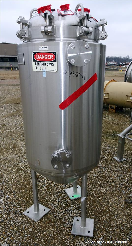 Used- Precision Stainless Reactor, 300 Liter (79 Gallon), 316L Stainless Steel,