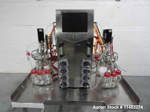 Used- Sartorius Stedim Biostat B Lab Fermenter System. Consisting of: (1) Biostat B twin version configuration controller, t...