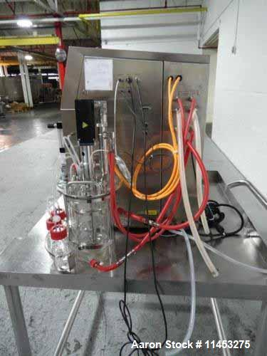 Used- Sartorius Stedim Biostat B Lab Fermentor System. Consisting of: (1) Biostat B twin version configuration controller, t...