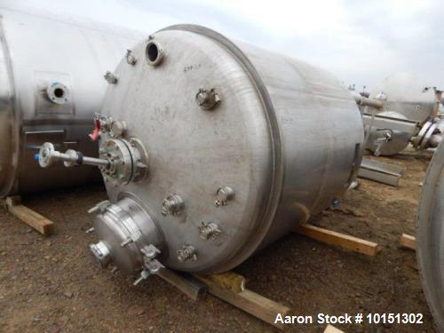 Used- Approximately 800 Gallon Stainless Steel Vertical Reactor