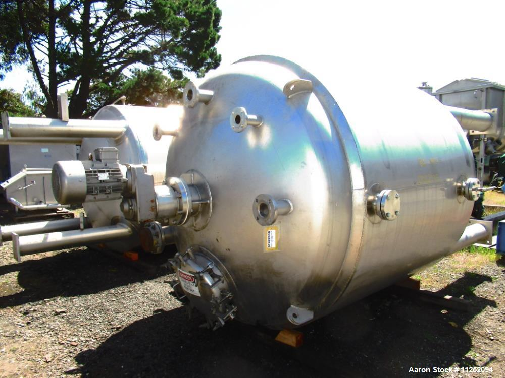 Used- Stainless Fabrication Inc. 1,500 Gallon Stainless Steel Reactor