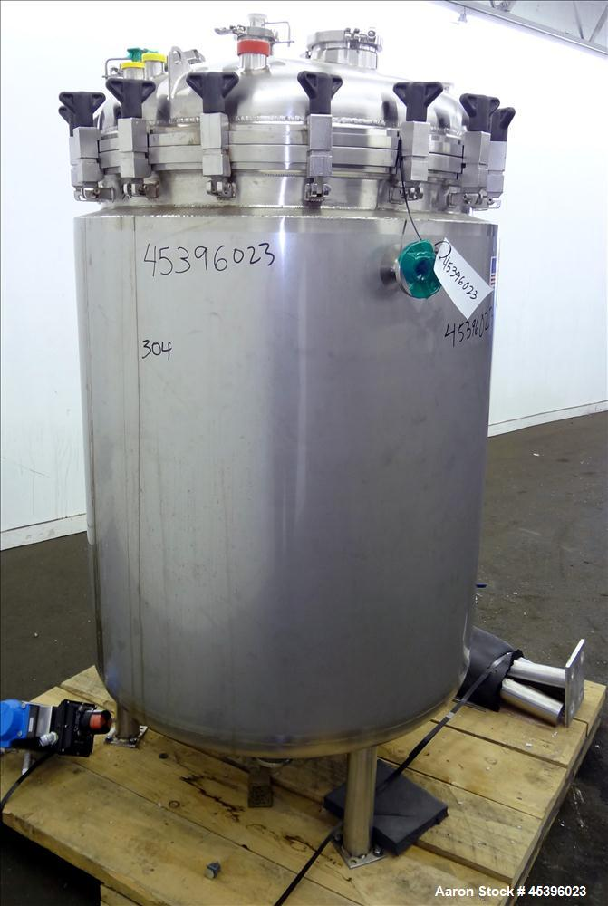 Used- T&C Stainless Reactor, 775 Liter (204 Gallon), 316L Stainless Steel, Verti