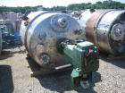 Used-Approximately 900 Gallon Vertical 316 Stainless Steel Reactor. 5' diameter x 6' straight side. With dished top and bott...