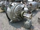 Used- Walker Stainless Reactor, 90 Gallon, Model D-409W4, 316L stainless steel, vertical. 33'' diameter x 15'' straight side...