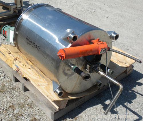 "Used- Walker Reactor, 50 Gallon, Model D-407-4W, 316L Stainless Steel, Vertical. 22"" Diameter x 26"" straight side. Dished bo..."