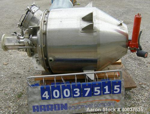 "Used- Walker reactor, 80 gallon, model D-408-4W, 316L stainless steel, vertical. Approximately 29 1/2"" diameter x 24"" straig..."