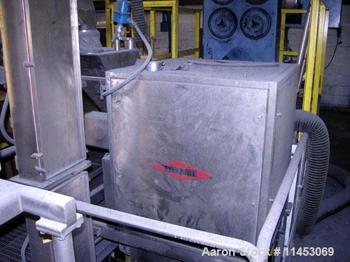 Used-Fitzpatrick Chilsonator, Model IR520 Roll Compactor. With (1) Fitzpatrick Fitzmill, DAS06; (2) bucket elevators; (2) sc...