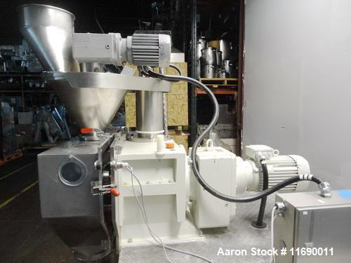 Used- Hosokawa Bepex Roller Compactor, 50 mm Wide x 200 mm Long Rolls, Model Pharmapaktor L200/50P.  This system is approxim...