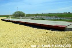 Used- B-Tek Truck Scale, Model EFTC-701004X11. 200,000 Pound capacity. Overall size approximate 11' wide x 70' long, breaks ...