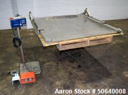 Used- Mettler Toledo Low Profile Floor Scale, Model PUA579, Stainless Steel. Approximate 5000 pound capacity. Platform appro...