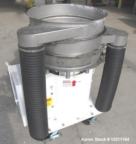 "Used-Midwestern Industries Screener, 24"" Diameter, Model ME24S4-4-4, Stainless Steel.  2 Deck, 3 separation, no top cover.  ..."