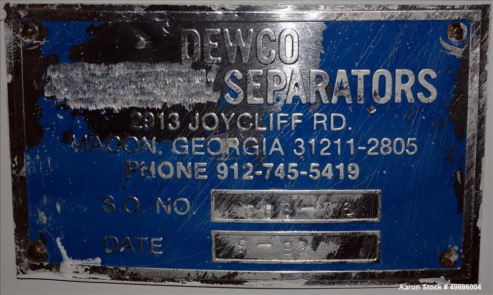 "Used- Dewco 48"" Diameter Vibratory Screener"