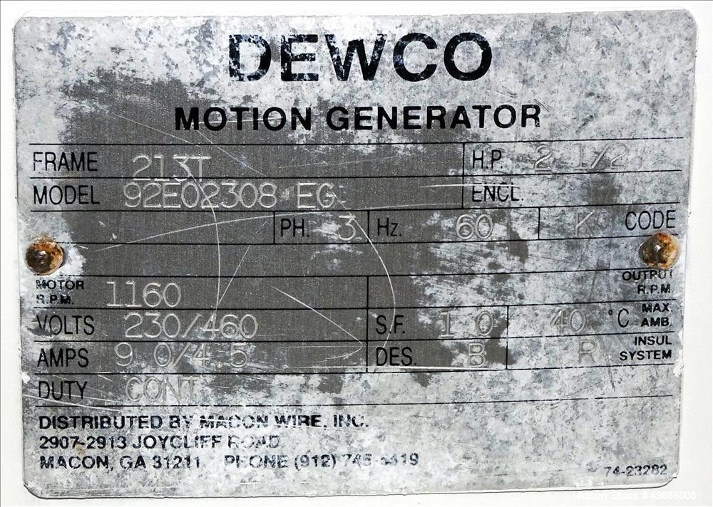 "Used-Dewco 48"" Diameter Vibratory Screener"