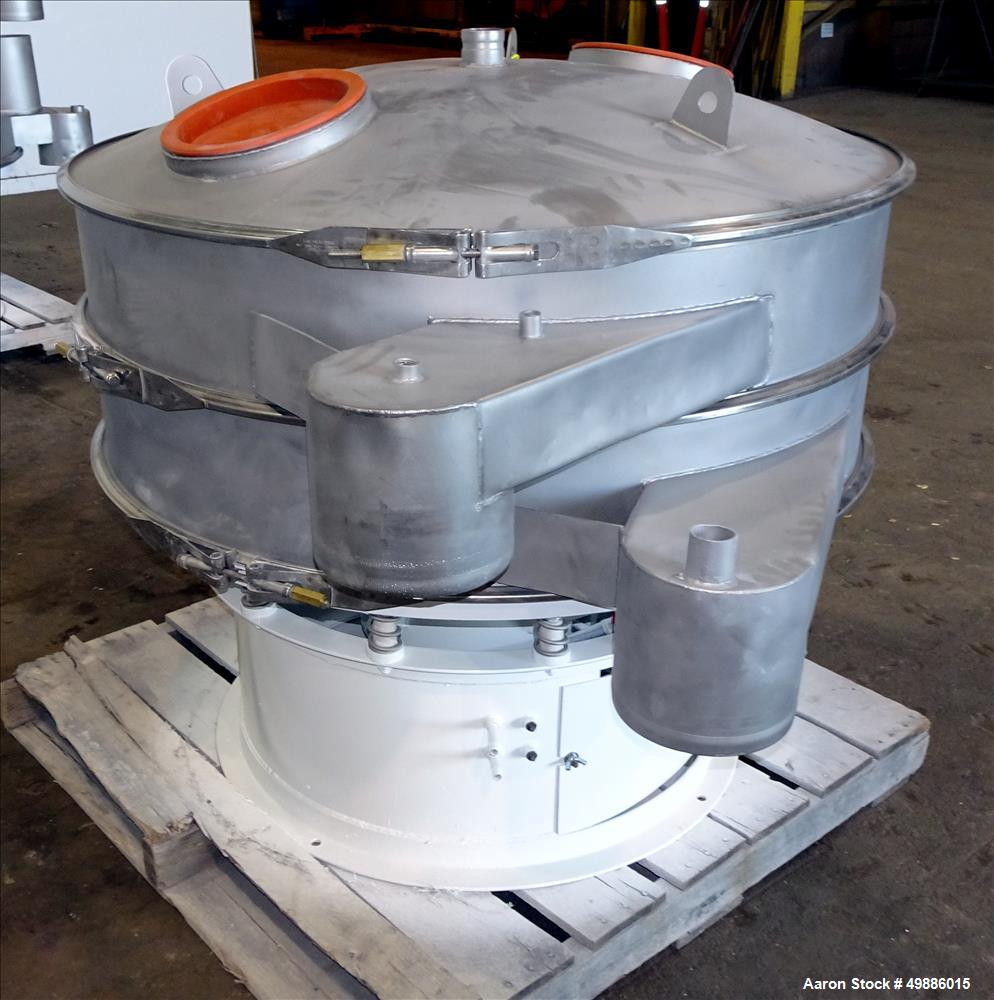 "Used- Dewco 48"" Diameter Vibratory Screener, Stainless Steel"