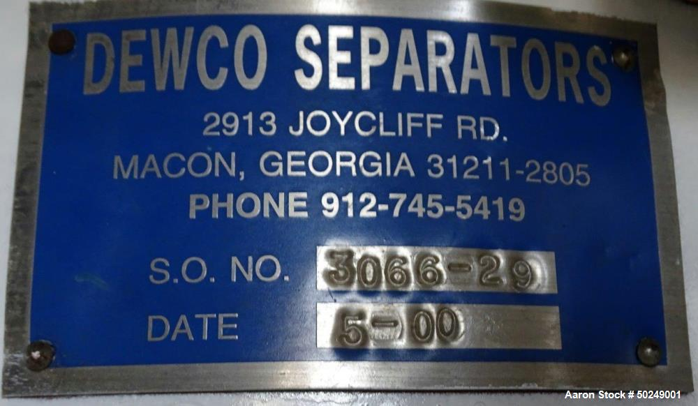 Used- Dewco Separators Screener