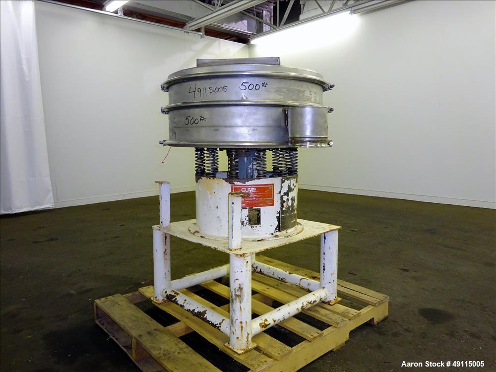 """Used- Gump Vibratory Screener, Model CV-301, 30"""" Diameter"""