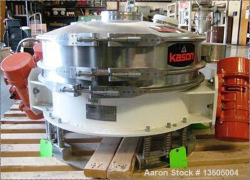 "Unused- Kason ""Low Profile"" Series Flo-Thru Vibroscreen Circular Separator, model K30-1FT-SS.  Features: stainless steel con..."