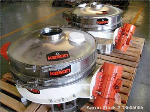 """Unused- Kason """"Low Profile"""" Series Flo-Thru Vibroscreen Circular Separator, model K30-1FT-SS.  Features: stainless steel con..."""