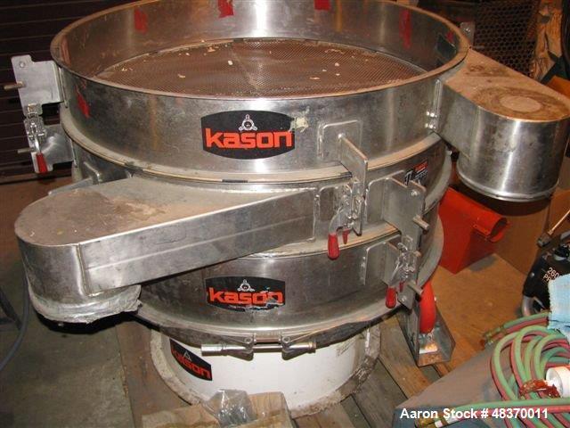 Used- Kason Circular Vibroscreen Separator, Model K40 -2-SS