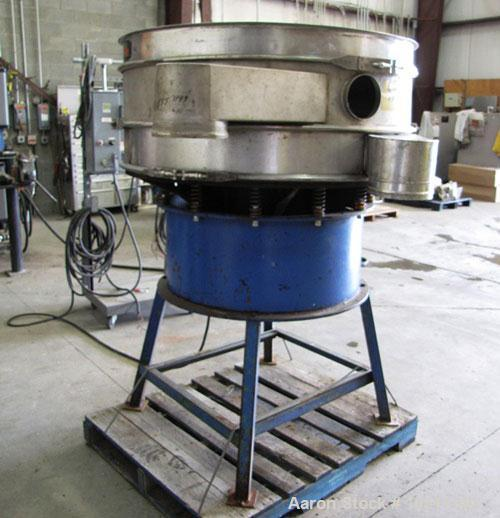 "Used-Kason Screener, 48"" Diameter, Model K48-1K-SS, stainless steel.Double deck, single separation.No top cover.Driven by a ..."