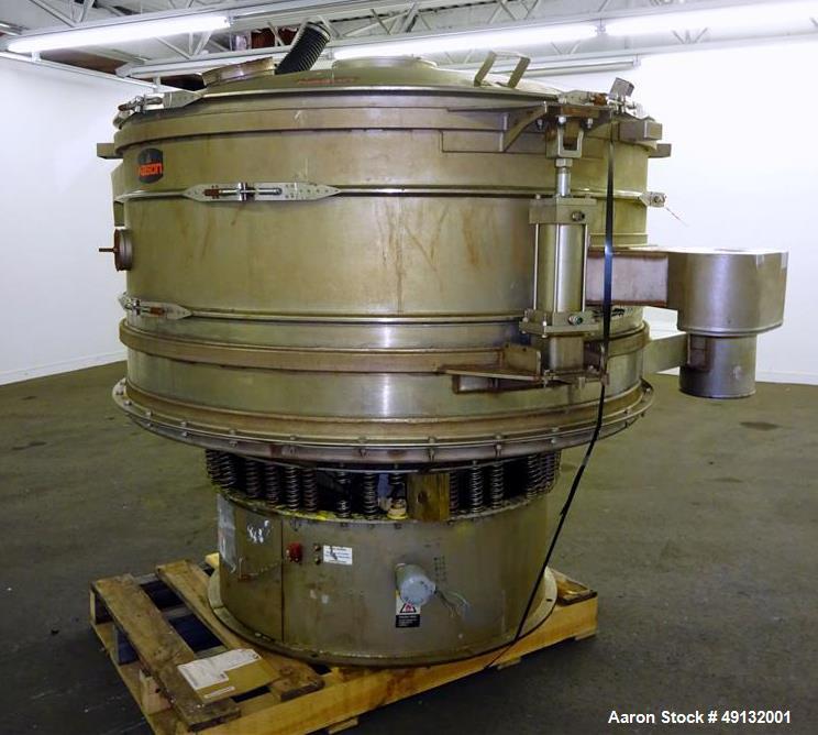 Used- Kason Screener, Model K72-2-316LSS, 316L Stainless Steel.
