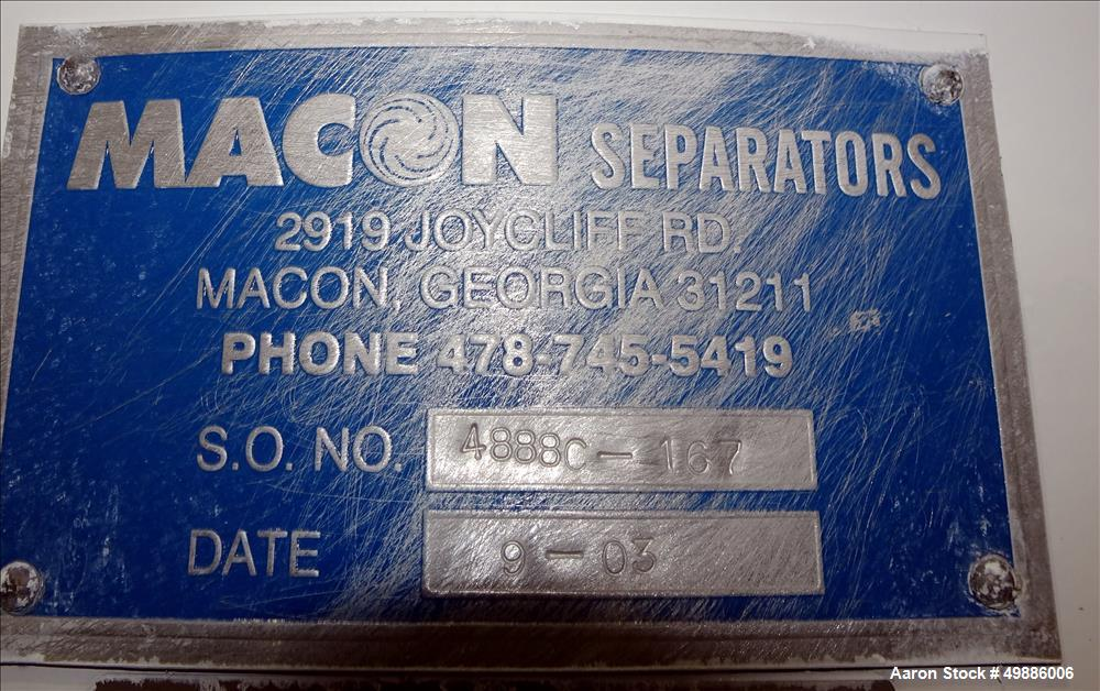 "Used-Macon 48"" Diameter Vibratory Screene"