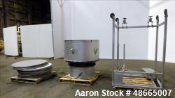 "Used- Circular Sieve, Approximate 48"" diameter, 304 Stainless Steel."