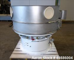 "Used- Dewco 48"" Diameter Vibratory Screener, 304 Stainless Steel."