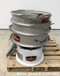 Used- Kason Vibroscreen, Model  K-24-2 Stainless Steel, Single Deck.