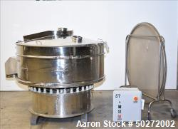 "Used- Microner 60"" Screener, Model GS60-1HC-SS, 304 Stainless Steel."