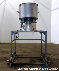 "Used-Midwestern Industries Sifter/Scalper, Model MR36S24. 304 Stainless Steel, 36"" Diameter, Single Deck.  Driven by a 2.5 H..."