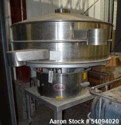 "Used- TEA Thermal Engineering of Arizona Shaker Screen, Model SAA60BD13, Stainless Steel. 60"" Diameter single deck, (2) sepa..."