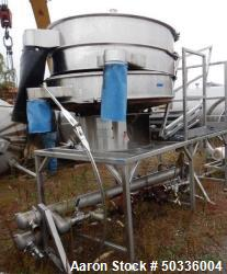 "Used- Thermal Engineering of Arizona, Inc. Screener, 60"" Diameter, Model SAB60BD13, Stainless Steel. Double deck, 3 separati..."