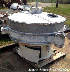 "Used- Sweco 60"" Vibro Energy Separator, Model OC60S8156, Stainless Steel."