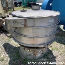 "Used- Sweco 48"" Screener, Model S48S688, 316 Stainless Steel."