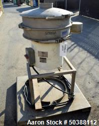 Used- Sweco Screener, Model ZS24S4444P3WC, 304 Stainless Steel. Single deck, 2 separation, includes top cover. Driven by a 0...