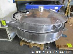 """Used- Sweco 72"""" Diameter Sifter / Screener, Stainless steel. Single Deck, 2 separation. (2) 10"""" Top Side Openings, 8"""" Center..."""