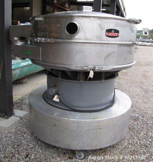 Used-Sweco Screener, Model LS60.  Stainless steel, single deck, 2 separation with top cover.  Driven by a 2-1/2 hp, 3/60/230...