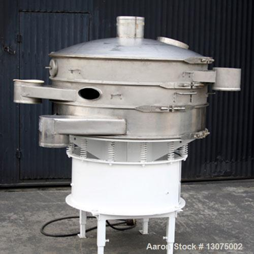 """Unused-Used: Sweco screener, 48"""" diameter, model S48S88. Three deck, four separations. 2.5 hp motor, 230/460 volts, 3 phase,..."""