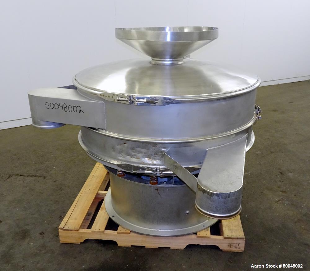 """Used- Sweco Screener, 48"""" Diameter, Model US48S, Stainless Steel."""