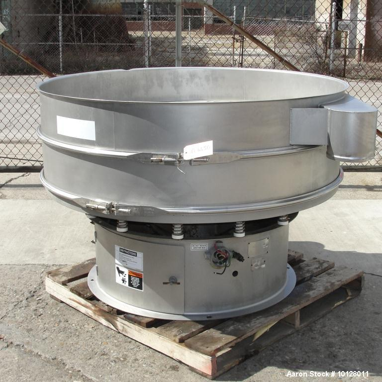 "Used-Sweco 60"" Diameter Stainless Steel Screener, Model XS60S88.  The decks are 8"" deep x 60"" diameter with 8"" diameter disc..."