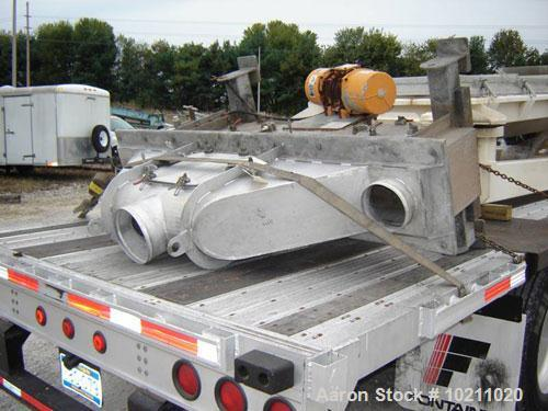"Used-Carrier Vibrating Fluid Bed Cooler or Dryer, Model ####-1260S. Deck is 12"" wide X 65"" long, slotted Johnson wedge wire ..."