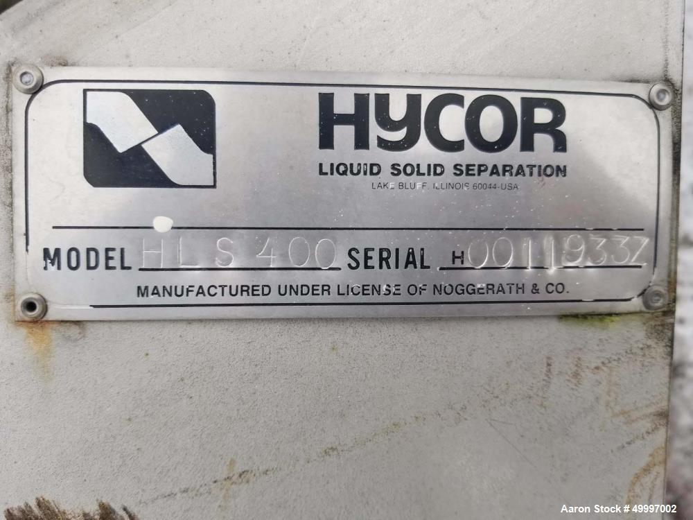 Used- Hycor Parkson Helisieve Fine Screen